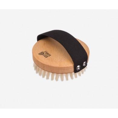 Spazzola da massaggio in faggio setole medio-dure 10 cm - Kost Kamm