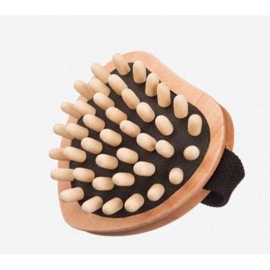 Spazzola anti-cellulite in acero, pomelli in legno - Kost Kamm