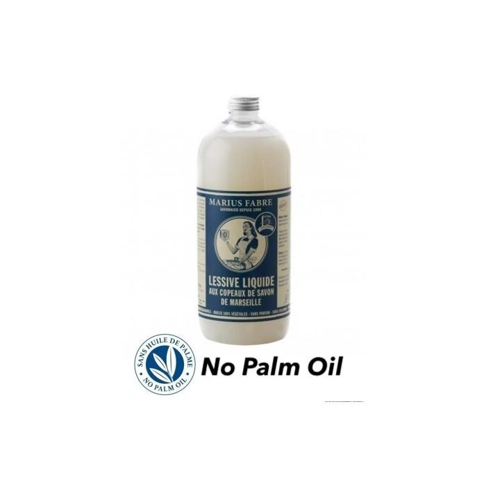 Sapone di Marsiglia liquido Bucato senza olio di palma 1L - Marius Fabre