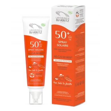 Alga Maris Spray Solare Bio SPF 50+ Formato Famiglia 150 ml - Laboratoires de Biarritz