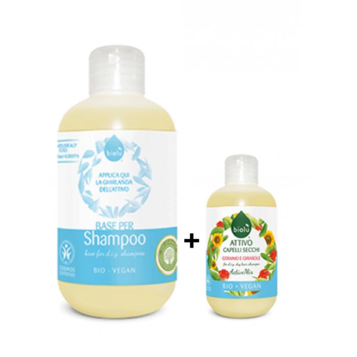 Base + Attivo Bio Shampoo Capelli secchi 300 ml - Biolù