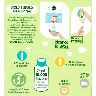 Base + Attivo Bio Shampoo Capelli grassi 300 ml - Biolù