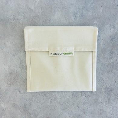 Sacchetto porta alimenti in cotone - A Slice of Green