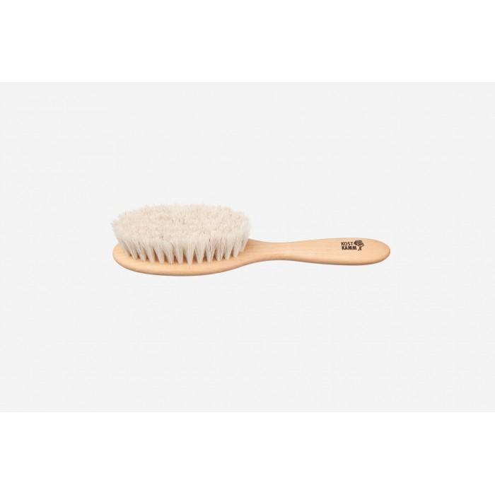 Spazzola da massaggio/capelli Kids in faggio e crine 18,5 cm - Kost Kamm