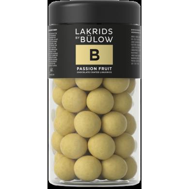 B - PASSION FRUIT Liquirizia, cioccolato bianco e fruit passion 295 gr - Lakrids