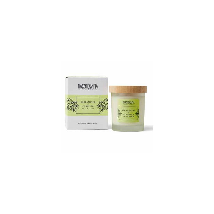 Candela Profumata Bergamotto e Cannella Ceylon 180 gr - Nasoterapia