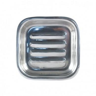 Base Porta sapone in acciaio inox quadrato - Tadé