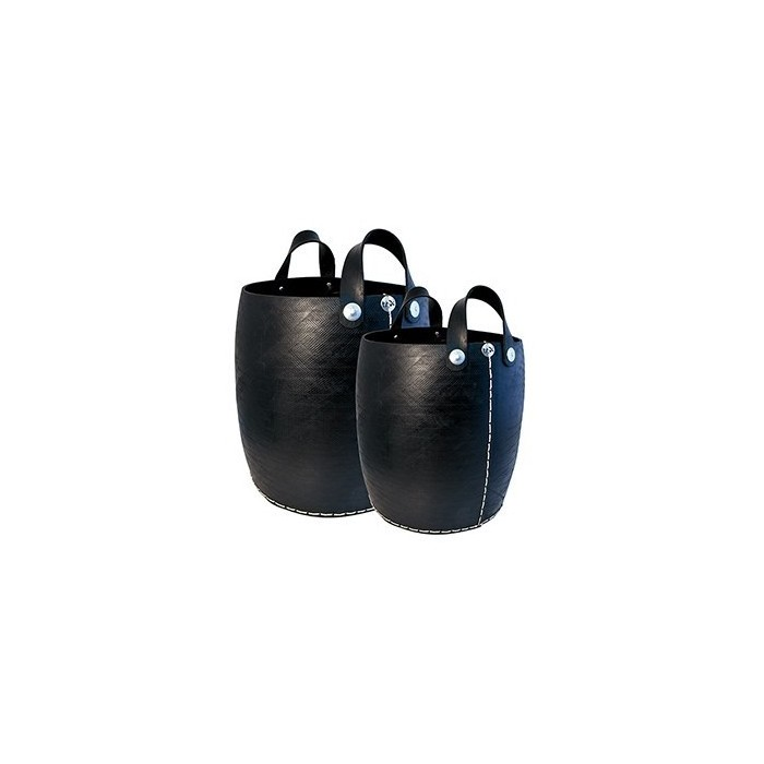 Set 2 Cesti con manici in pneumatico riciclato - Tadé