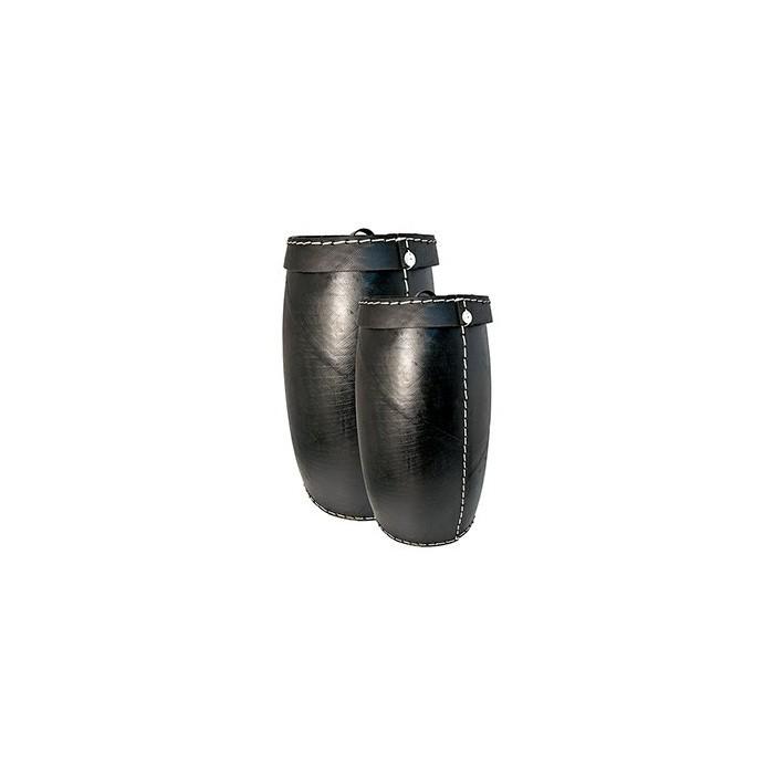 Set 2 Cesti con coperchio in pneumatico riciclato - Tadé