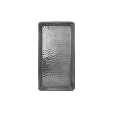 Piatto rettangolare in alluminio martellato 25x13 cm - Tadé