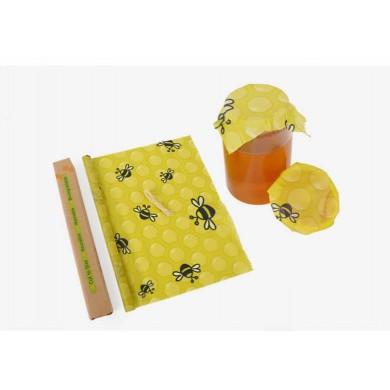 BeesWax Rotolo foglio alimentare con cera d'api 100x32cm Ape - Natural Kind
