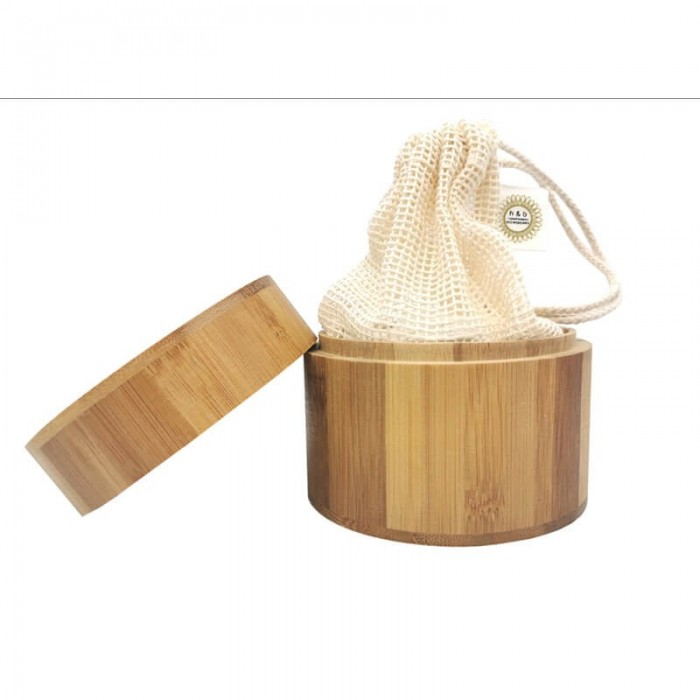 Box in bamboo dischetti struccanti 16 pz - Natural Kind