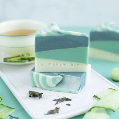 Sapone artigianale naturale Green Tea Cucumber 100gr - Almara Soap
