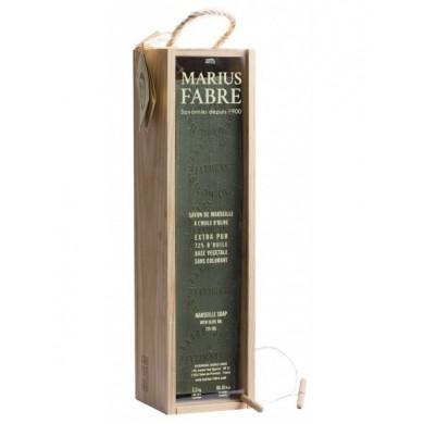 Barra sapone di Marsiglia in cofanetto di legno 2,5 Kg - Marius Fabre