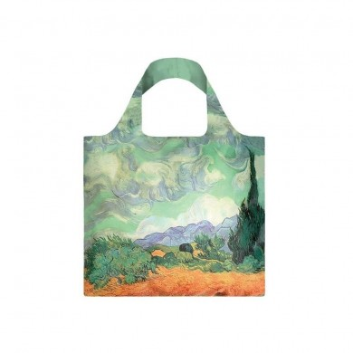 "Borsa Shopping Bag Tote - Van Gogh ""A wheat Field with Cypresses"" - Loqi"