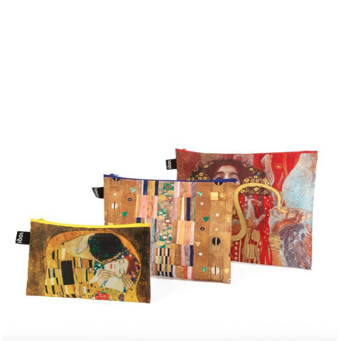 Zip Pockets GUSTAV KLIMT set 3 pz. - Loqi