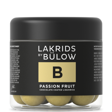 B - PASSION FRUIT Liquirizia, cioccolato bianco e fruit passion 125 gr - Lakrids