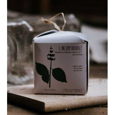 L'Incomparabile Shampoo e balsamo solido 2 in 1 anti-forfora anti-prurito 60 gr - Ethical Grace