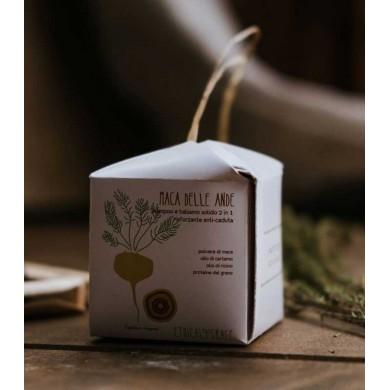 Maca delle Ande Shampoo e balsamo solido 2 in 1 Anti-caduta 60 gr - Ethical Grace