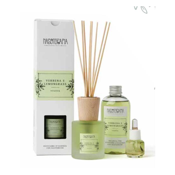 Diffusore con Bastoncini Verbena e Lemongrass - Nasoterapia