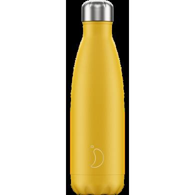 Chilly's Matte Yellow - Bottiglia in acciaio inox