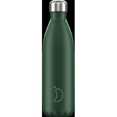 Chilly's Matte Green - Bottiglia in acciaio inox