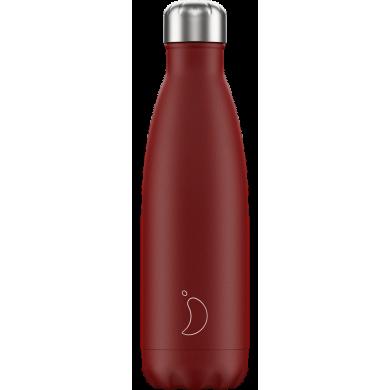Chilly's Matte Red - Bottiglia in acciaio inox