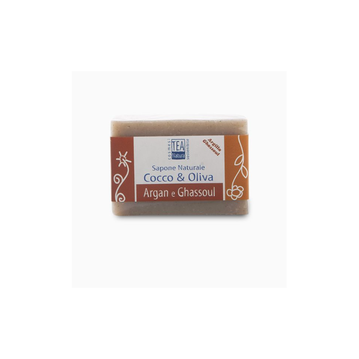 Sapone naturale Ghassoul e Argan - Tea Natura