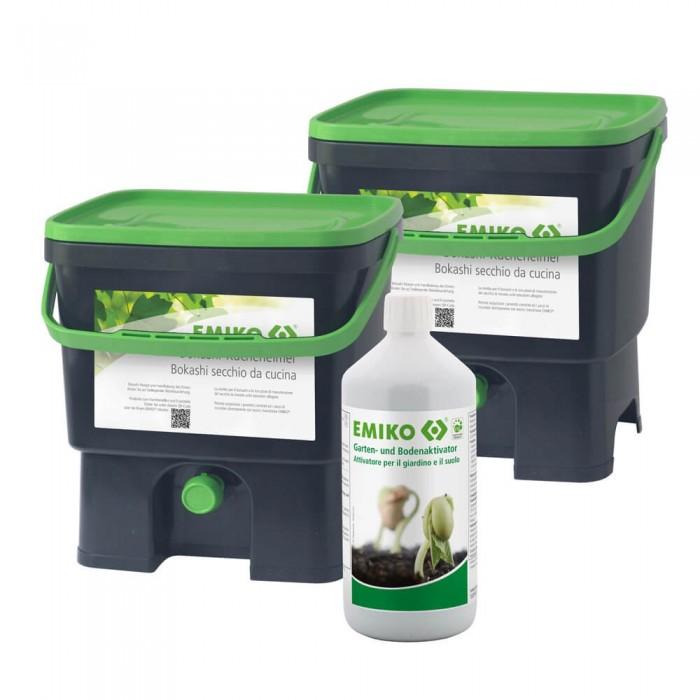 Secchio Bokashi per compost domestico 16L Set 2 pz. - Emiko®