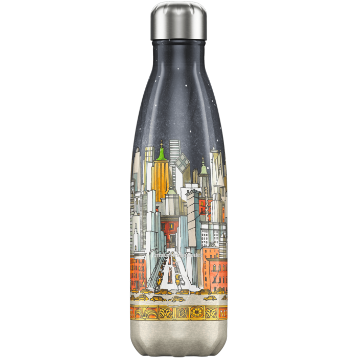 Chilly's Emma Bridgewater New York 500 ml - Bottiglia in acciaio inox