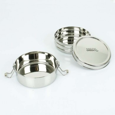 Chapra Lunch Box due livelli in acciaio inox - A Slice of Green