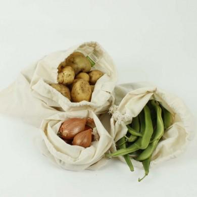 Set 3 Sacchetti riutilizzabili in cotone GOTS - A Slice of Green