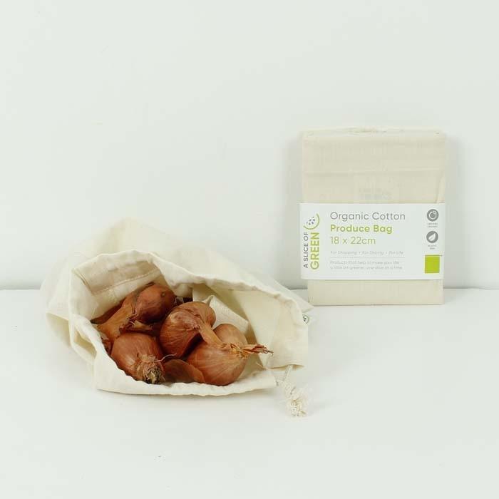 Sacchetto Small riutilizzabile in cotone GOTS - A Slice of Green