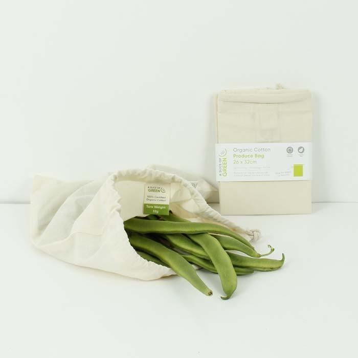 Sacchetto Medium riutilizzabile in cotone GOTS - A Slice of Green