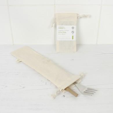 Sacchetto Posate riutilizzabile in cotone GOTS - A Slice of Green