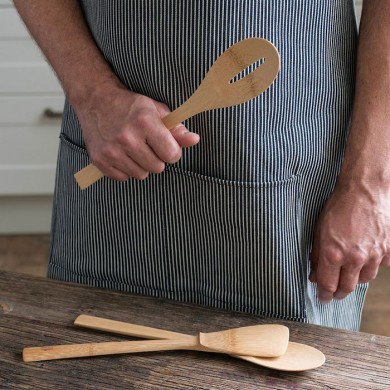 """Give It A Rest"" Cucchiaio scanalato in bamboo - Bambu"